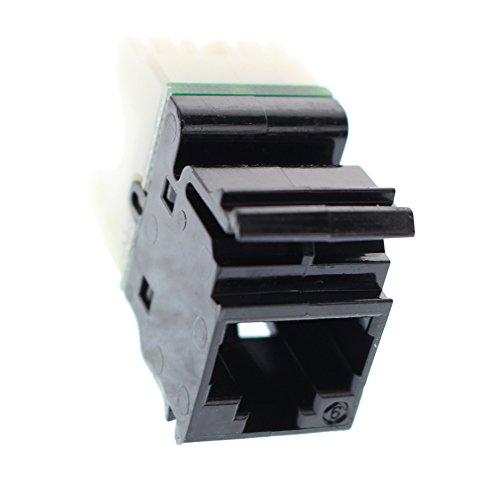 - Siemon MX6-F01 Max-Module Cat6 UTP Flat Data Jack Insert, Black
