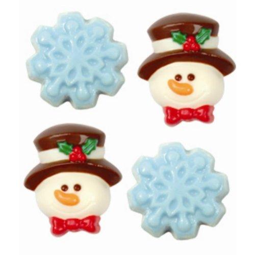 - Make N' Mold 2150 Dress My Cupcake Snowman and Snowflake Minis Candy Mold