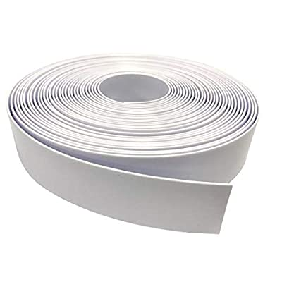 "2"" Wide Vinyl Strap for Patio Pool Lawn Garden Furniture 45' Roll to Make Your Own Replacement Straps -Plus 50 Free Fasteners! (201 White) : Garden & Outdoor"