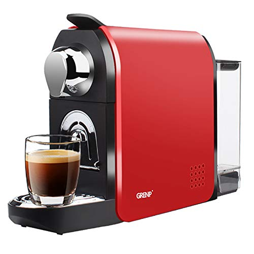 Grenp Espresso Machine for Coffee Capsules Compatible with Nespresso OriginalLine Machine, Espresso Maker for Nespresso OriginalLine, Bestpresso Coffee Capsules, Gourmesso Bundle, Jones Brothers Coffee, Battistino Coffee, Rosso Caffe, Peet's Espresso and lots more -By Grenp (Red)