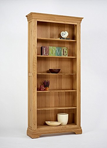 Calais Solid Oak Living Room Furniture 6ft Large Bookcase