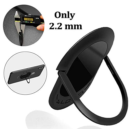 Phone Ring, Cell Phone Ring Holder, Phone Finger Stand 360Rotation & 90Flip Ring Grip Holder for Magnetic Car Mount Compatible with All Smartphone and Tablets.