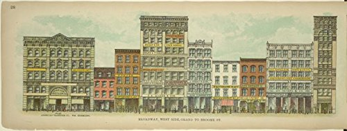 Historic 1899 print | Broadway, West Side. Grand to Broome St. | Antique Vintage Poster Print Reproduction | |Streets | Buildings, structures, - West And Broadway Broome