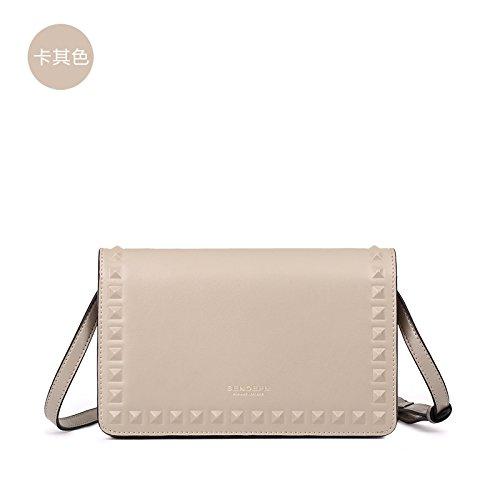 GUANGMING77 Kleine Tasche Satchel Bag Schultertasche Mini Kleines Paket Khaki
