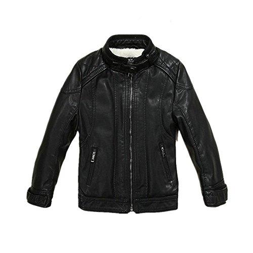 LJYH Boys Leather Jacket New Spring Thick Velvet