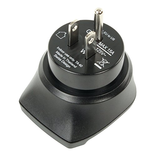 Ansmann 1250-0002 Travel Adapter - EU to US