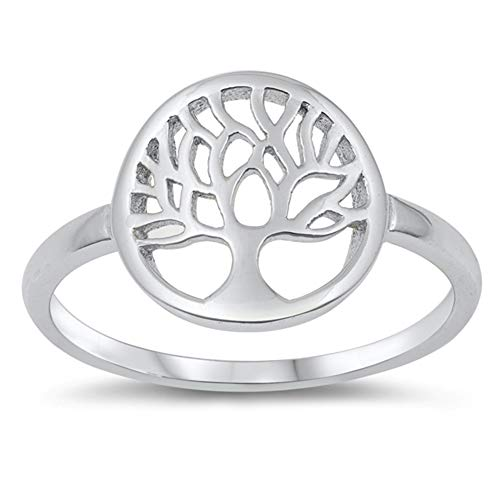 (Filigree Tree of Life Ring New 925 Sterling Silver Band Size 10)