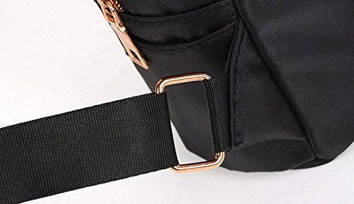 Girls Boys School Bag Women Plain Zipper Backpack Fashion Shoulder Bag Small Travel Bags by LMMVP Black