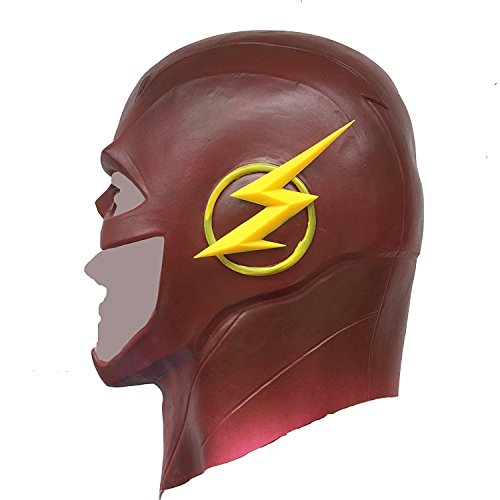 The Flash Mask Rubber Latex Party Mask Head Costume Full Face Cosplay Mask - Zoom Dc Costume