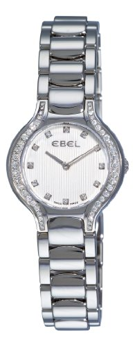 Ebel Women's 9003N18/691050 Beluga Silver Diamond Dial Watch Beluga Ladies Wrist Watch