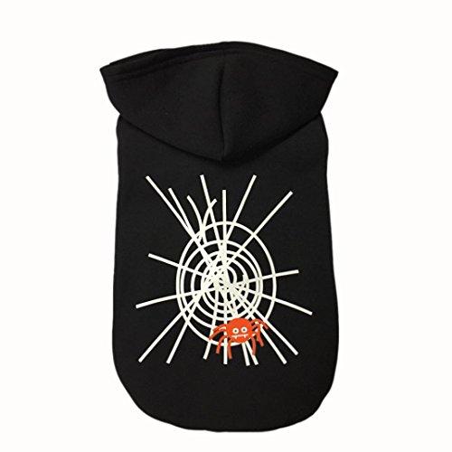 Livoty Halloween Spider Web Cool Cute Dog Pet Sweater Costume (M, Black)