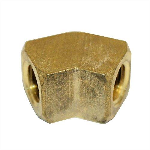 Interstate Pneumatics FST44EAF Brass Street Pipe Elbow Fitting 1/4