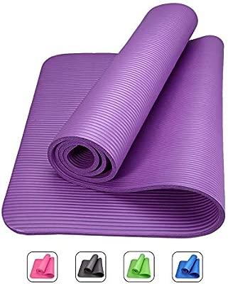 ROMIX Esterilla de Yoga Gruesa, 10MM - 15mm Alfombras de Reversible Ecologica, 183cm No tóxico Colchoneta para Deporte Fitness Ejercicios, Gimnasio, ...