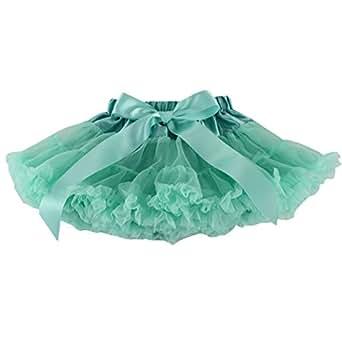 Wennikids Little Girl's Dance Chiffon Pettiskirts Tutu Assorted Size and Color Small Aqua