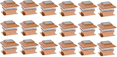 RELIGHTABLE Solar Square Outdoor Post Cap Deck Lights for 4×4 Copper 18-Pack