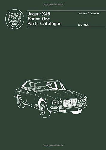 Jaguar XJ6 Ser 1 Parts Catalog (Official Parts Catalogue S)