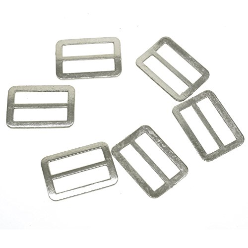 YOYOSTORE 20pc Silver Tone 1 inch 25mm Metal Ring Buckle DIY Luggage Belt Shoe Slide Make Tool Diy Inside Width 25mm Make Finding Diy (Tone Buckle Silver Slide)