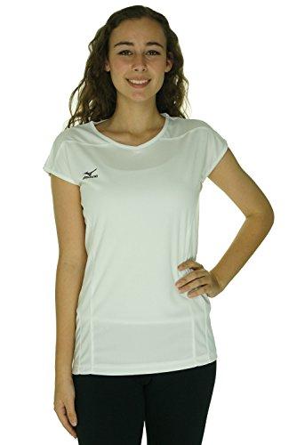Mizuno Women's Performance Cap Sleeve G3 Jersey, White, (Mizuno White Pullover)