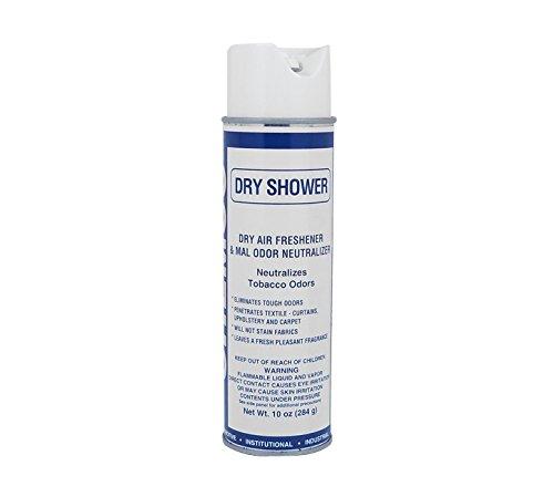Air Freshener - Dry Shower - Industrial Strength Odor Eliminator - 12 Cans/Case