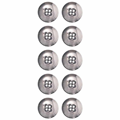 - Mibo ABS Metal Plated Dome with Clover Shape Center 4 Hole Button Assorted Size Packs 20 mm 10-Pack