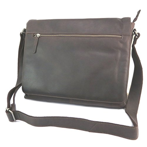 Gianni Conti [p3011] - Leather Bag 'gianni Conti' Vintage Dark Brown (special Tablets) - 37x30x9 Cm.