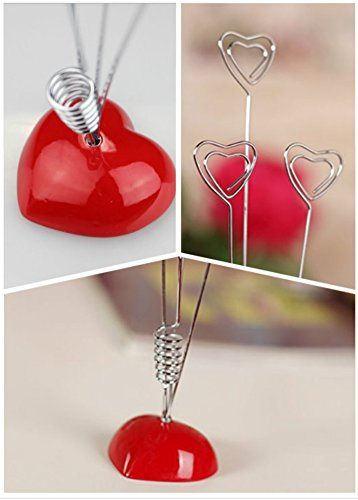 Dproptel Upgraded Heart-Based 4 Wire Clasps Card Holder Memo Clips Tree For Note Clip Shop Price Tag Photo Display Wedding Table Name Home Decoration - Pack of 2 by Dproptel (Image #3)
