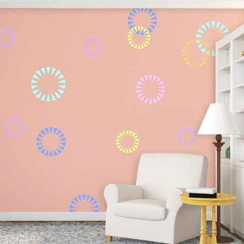 J BOUTIQUE STENCILS Wall Stencils Circle Shape Firecracker Stencil for Modern Wall ()