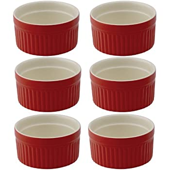 Mrs. Anderson's Baking Ramekin, Ceramic Earthenware, Rose, Set of 6, 2.5-Inch, 2-Ounce Capacity