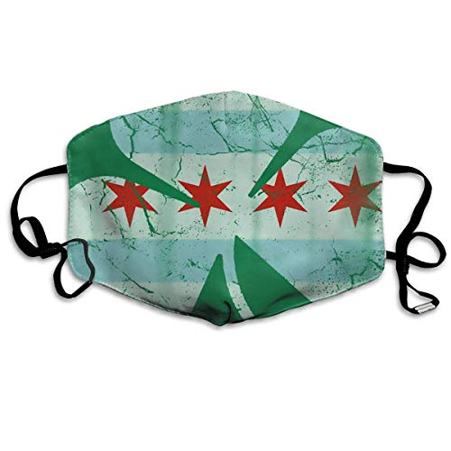 (Irish Chicago Flag Shamrock Printed Mouth Masks Unisex Anti-dust Masks Reusable Face)