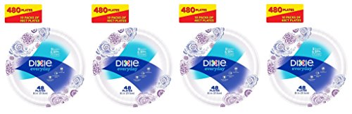 Dixie Everyday Paper Plates, sdKTxq 8.5 Inches, 4Pack of 10 by Dixie