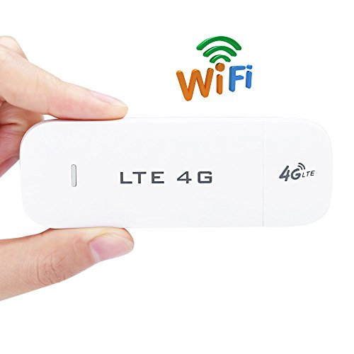 Portable 3G 4G USB Wifi Dongle 100Mbps Pocket 4G LTE WiFi Router Hotspot Wireless USB Modem with SIM Card Slot Car /Travel Wifi Router Support up to 10 wifi Users