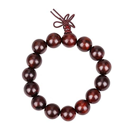 Yaoyijun Wood Necklace Chain Bracelets red acerbity branch wood Beads Bracelet (15mm red acerbity branch Bracelet)