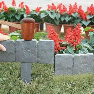 Grau Grenze Pflanzendekoration f/ür Rasens oder der Terrasse Rasenkante Granit Plant Grenze,Gartenpalisade Beeteinfassung