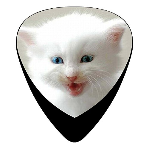 Guitar Picks Celluloid Smile Cat Kitten 12 Pack Shape For Acoustic Guitar Mandolin Electric Guitar And Bass ()