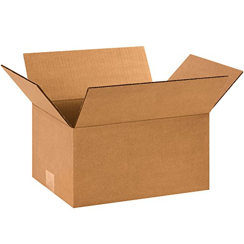 "BOX USA B1296 Corrugated Boxes, 12""L x 9""W x 6""H, Kraft (Pack of 25) from BOX USA"
