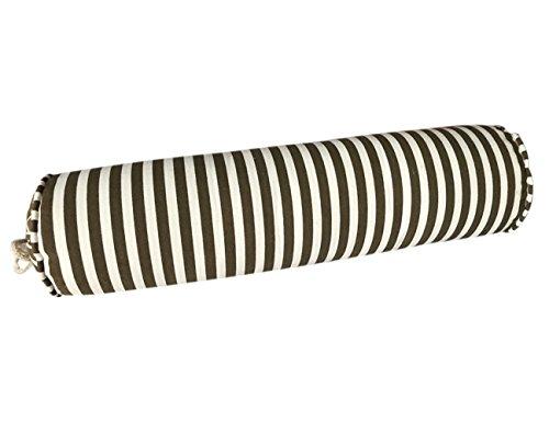 (EONSHINE Elegant Fluffy Soft Down Alternative Filled Cylindrical NeckRoll Cervical Bed Pillow Bolster, Cavas Fabric, Set of 1)