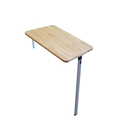 Folding Table Wall Mounted Drop Leaf Table Solid Wood Small Dining Table  Wall Hanging