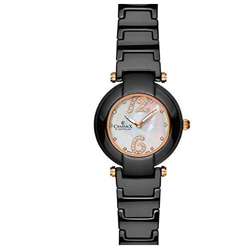 Charmex Tuscany 6267 35mm Ceramic Case Black Ceramic Synthetic Sapphire Women's Watch