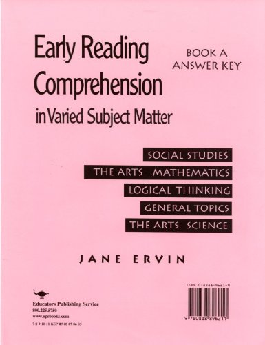 Download Early Reading Comprehension Bk a Grd 2-4 Key pdf