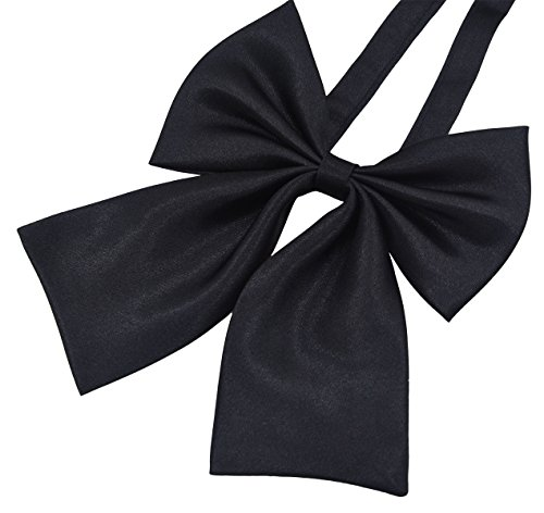 GZZOU Women Bow Tie, Ladies Fashion Solid Color Pre-Tied Silk Necktie