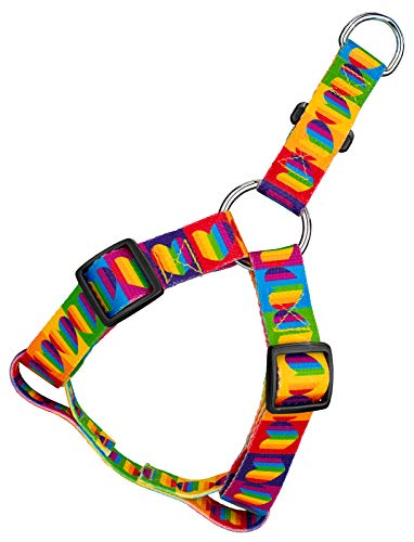 Country Brook Petz | Rainbow Hearts Step-in Dog Harness - Extra ()