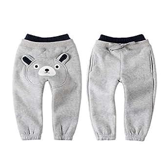 LittleSpring Little Boys' Long Pants Cartoon Size 12M Grey