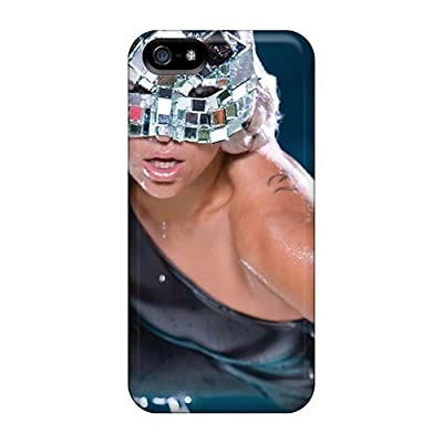 FashionE-Space Awesome Case Cover Compatible With Iphone 5/5s - Lady Gaga Wearing Mask