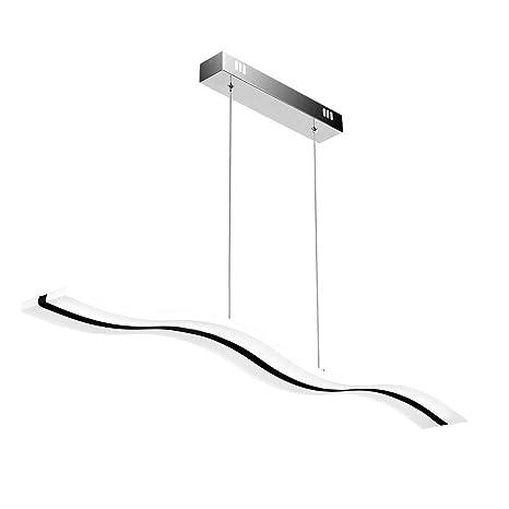 Create For Life® Lámpara colgante LED,Lámpara de techo colgante 38W LED Lámpara de techo 3000 Kelvin Blanco cálido, acrílico araña moderna.