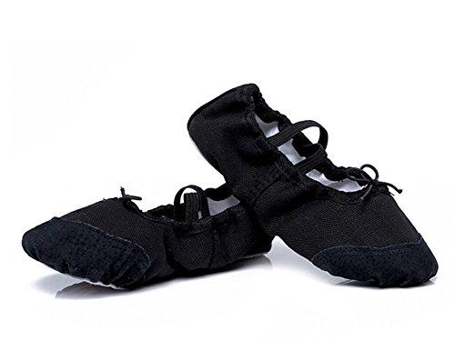 enfants chaussures de WX de ballet des chat de chaussures anti des black Chaussures professionnel de 23 chaussures exercices mou dérapant 43 de danse XW femme de yoga griffe fond la HdqSz8vSw