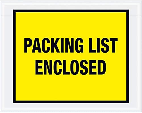 Full Face Envelopes , Red 500 Per//Case 10 x 12 TapePlanet Packing List Enclosed Colored