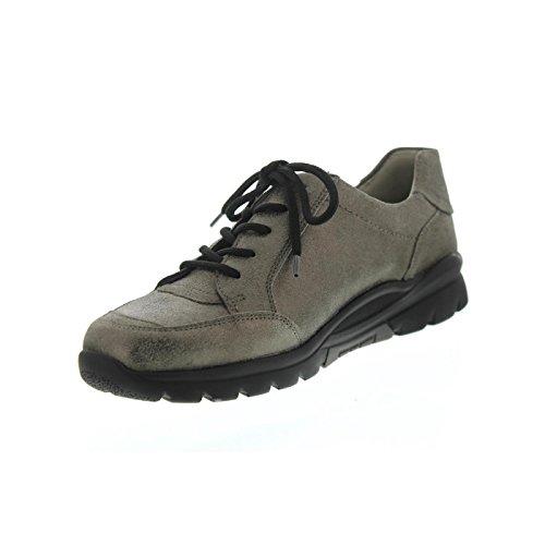mujer de 103 cordones 175 Waldläufer 345003 para Zapatos Peltro pgxAn0q