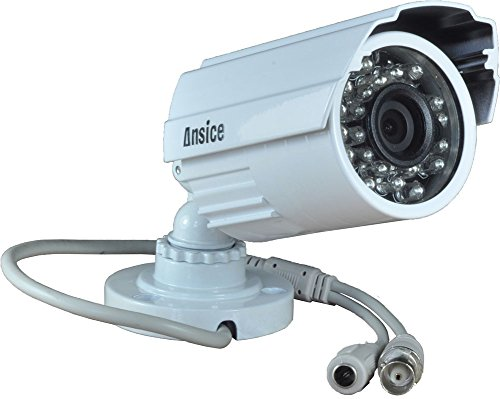 Ansice Wide Angle CCTV Camera(White) Day Night 24 IR LEDs 3.6mm 1000tvl Cmos With Ir-cut Bullet Security Camera Cctv Home Systems Waterproof Infrared With Power Supply