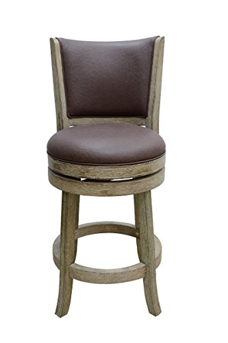Boraam 86424 Toledo Wire-Brush Swivel Stool, 24-Inch, Weathered White (Sonoma Leather Furniture)