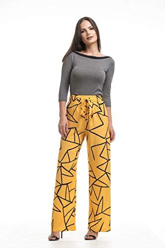 Calça Clara Arruda Cós Estampada 10052-44 - Grafico Amarelo